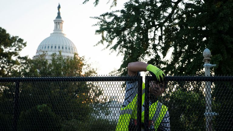 The removal of the fence comes six months after the riots in Washington DC