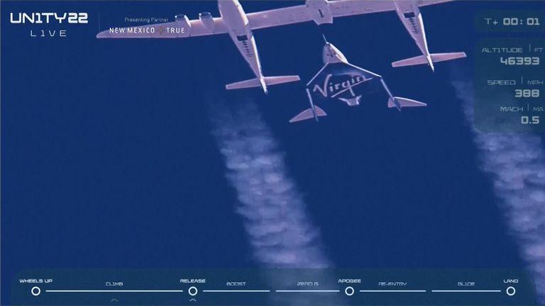 The rocket separated mid-flight