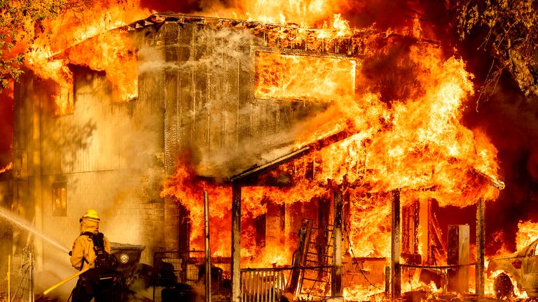 The Beckwourth Complex Fire rages in California