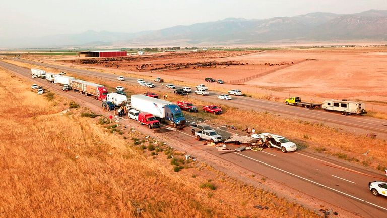 A fatal pileup occurred in Utah on Sunday