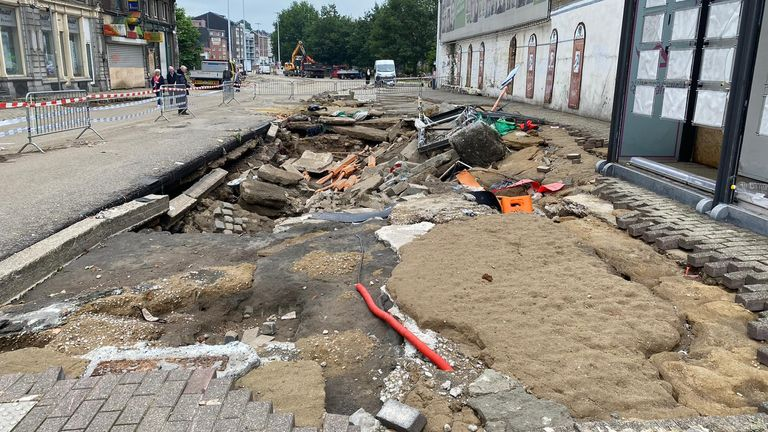 There are holes in the pavement around Verviers