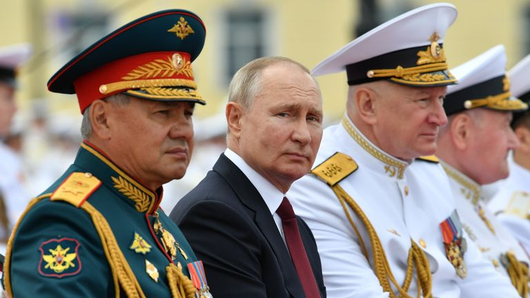 Mr Putin said the Russian navy can detect any enemy