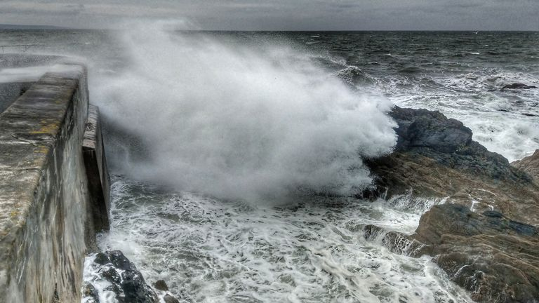 Rough seas, Cornwall