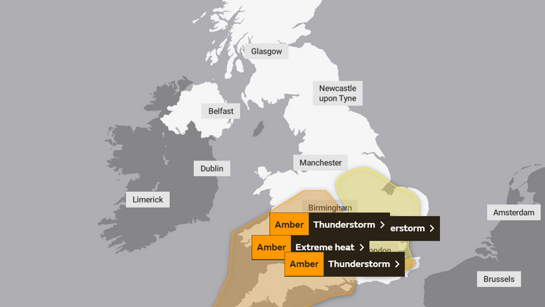 The warnings in place. Pic: Met Office
