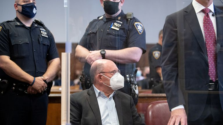 Trump Organization chief financial officer Allen Weisselberg appears for his arraignment hearing in New York State Supreme Court in the Manhattan borough of New York City, New York, U.S., July 1, 2021. Barry Williams/Pool via REUTERS