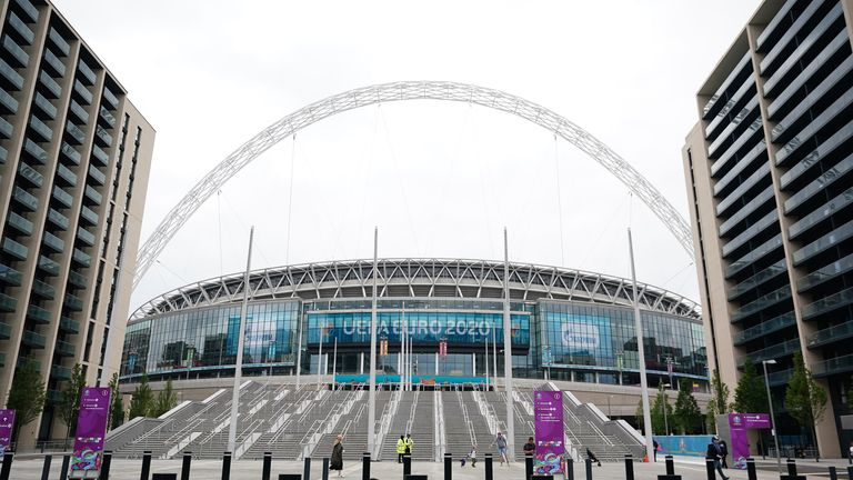 Fans visiting Wembley Stadium are being encouraged to get a jab on the way if they haven't had one already