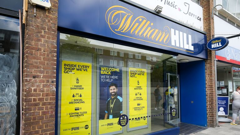 A William Hill betting shop