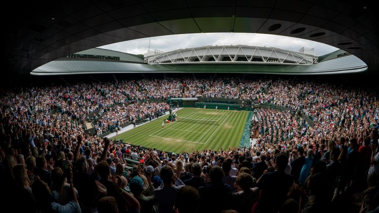 Wimbledon's Court One will be at full capacity from Tuesday