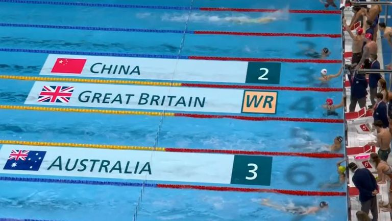 Team GB set a new swimming world record with their win at the Olympic Games in the 4x100m mixed medley relay