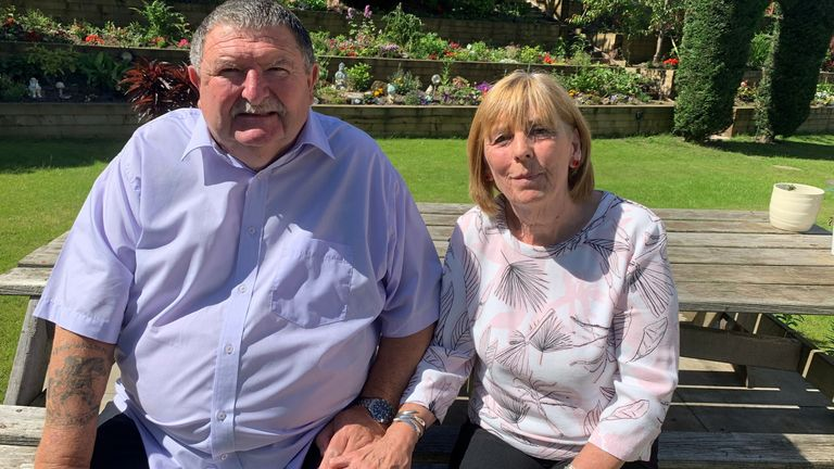 Bob and Jem Wright. Parents of Corporal Mark Wright who died near Kajaki dam in Afghanistan after he and others were caught in a minefield in 2006