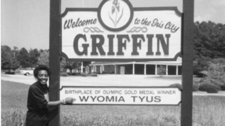 Tyus at the Wyomia Tyus Olympic Park in Griffin, Georgia. (Picture: Duane Tillman/Akashic Books)