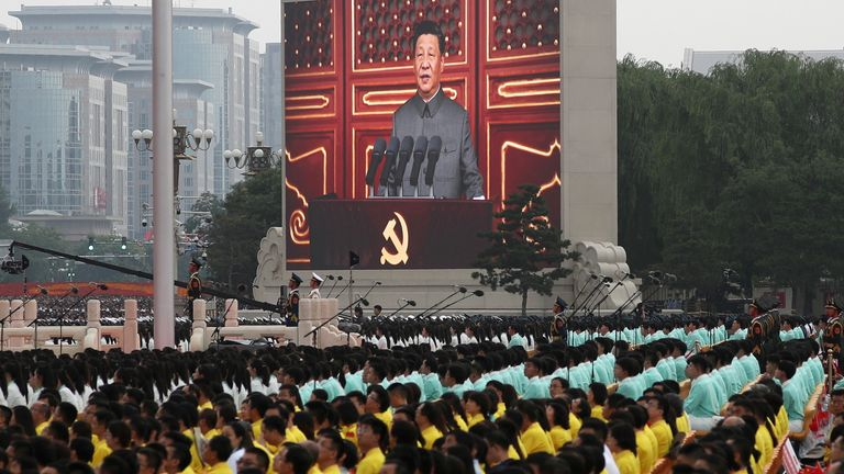 Xi Jinping warned foreign powers of 'broken heads and bloodshed' if they try to oppress or bully China