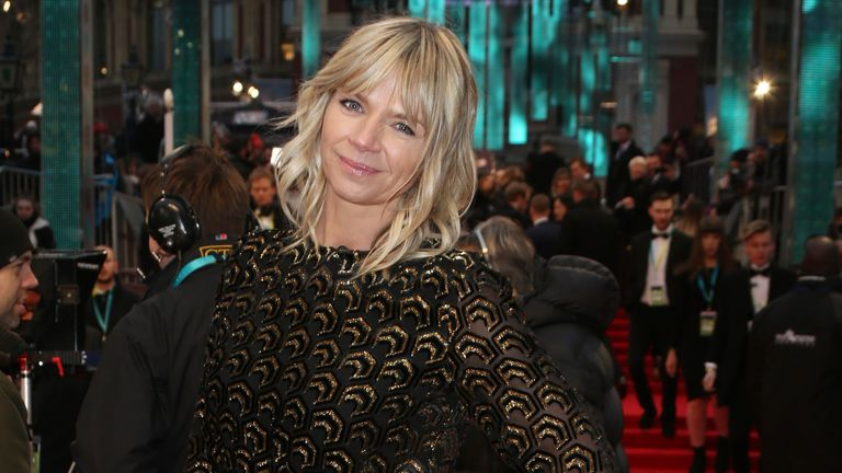 Zoe Ball remains in the number two spot. Pic: Joel Ryan/Invision/AP