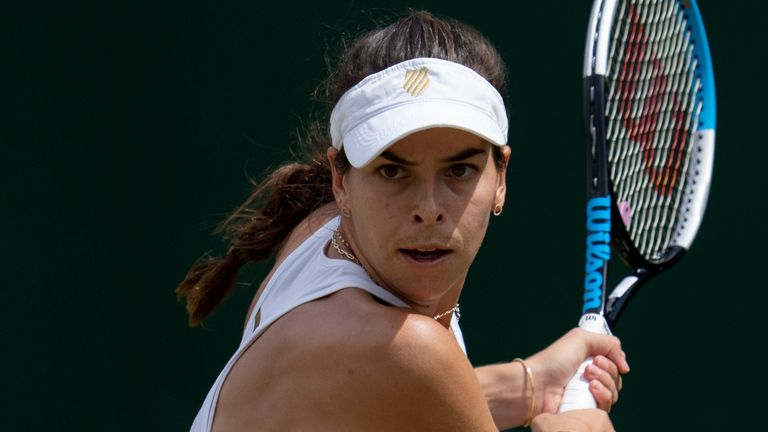 There was an ugly end to Ajla Tomljanovic's third round win over Jelena Ostapenko