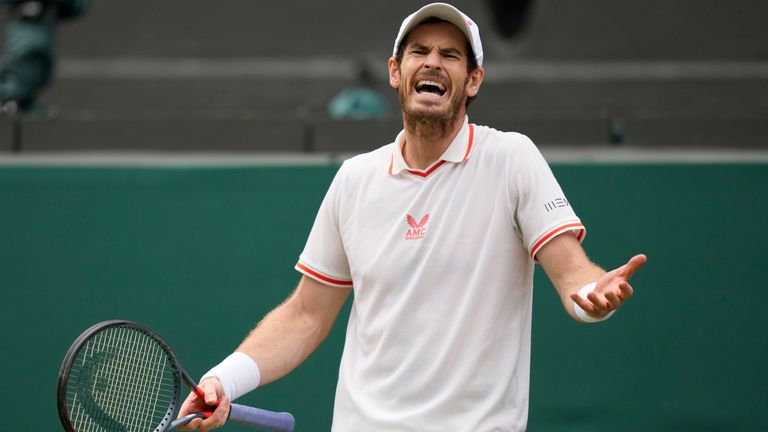 Andy Murray suffered a straight sets defeat to Denis Shapovalov to end his Wimbledon return at the third round (AP)