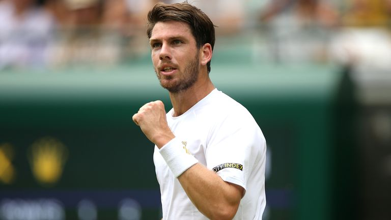 Cameron Norrie hopes to continue his best ever Wimbledon showing when he faces Roger Federer on Saturday (PA)