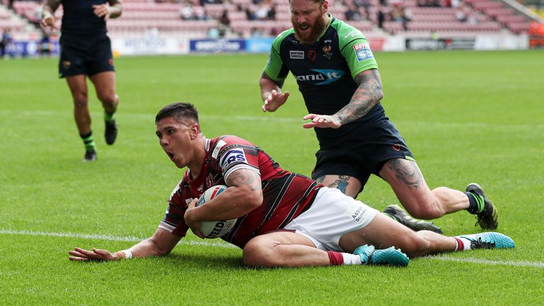 Highlights from last week's Betfred Super League clash between Wigan Warriors and Huddersfield Giants