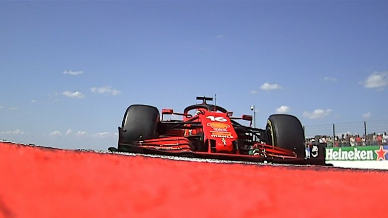 Charles Leclerc complains of power problems over team radio as Lewis Hamilton waits to pounce during the British GP.