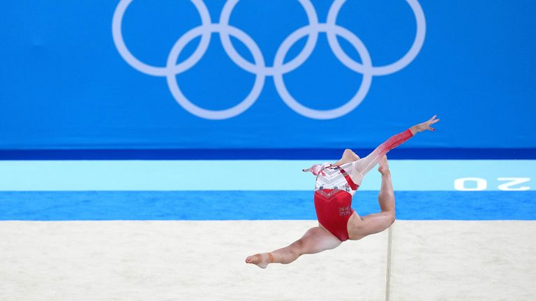 Great Britain's Jessica Gadirova on the floor during the Women's Team Final at the Ariake Gymnastics Centre on the fourth day of the Tokyo 2020 Olympic Games in Japan. Picture date: Tuesday July 27, 2021.