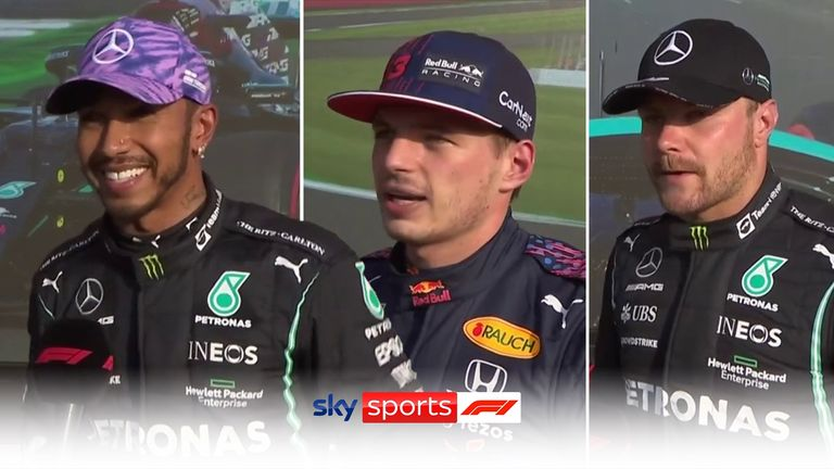 Lewis Hamilton, Max Verstappen and Valtteri Bottas took the top three spots in qualifying ahead of the Sprint race at the British Grand Prix