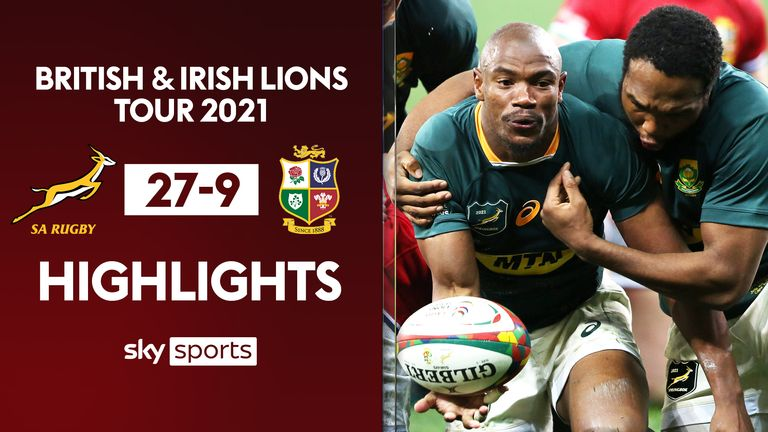 Highlights of the second Test between South Africa and the British and Irish Lions from Cape Town