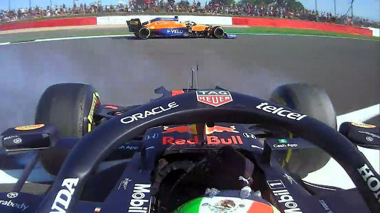 Sergio Perez took a big spin and did no real damage to the Red Bull driver except for dropping to P18.