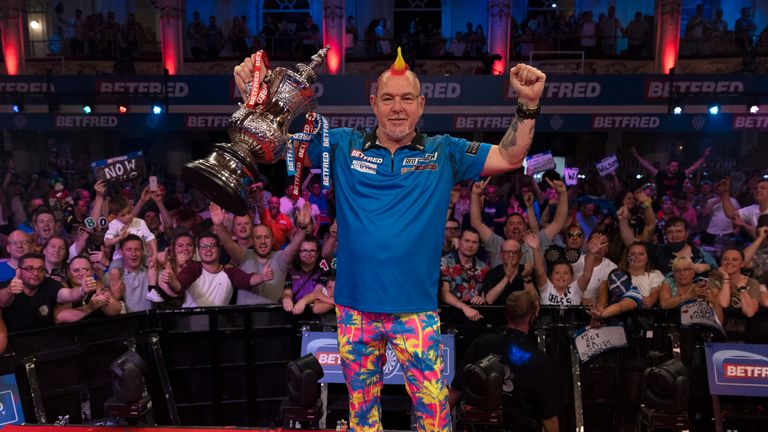 Peter Wright won the World Matchplay title for the first time in his career (Lawrence Lustig/PDC)