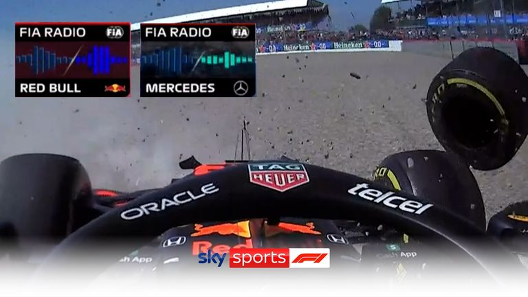 Red Bull boss Christian Horner radioed FIA race director Michael Masi to share his take on the first lap collision of Max Verstappen and Lewis Hamilton