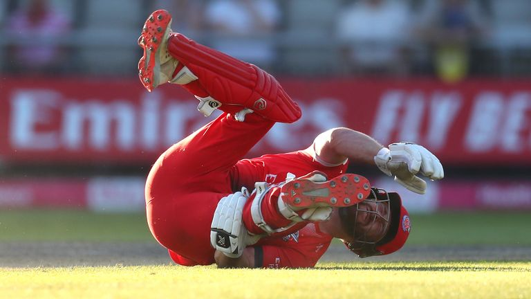 Yorkshire opted not to run out Lancashire's Steven Croft after he slipped due to cramp - sparking a heated debate between Sky Cricket pundits Mark Butcher and Rob Key over whether they did the right thing.