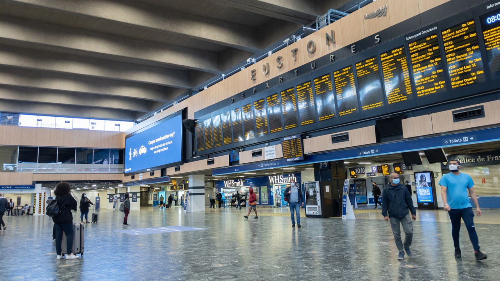 COVID-19: Tests at England's major railway stations and on trains reveal no traces of coronavirus