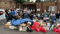 Some of the items that were donated to Bushey United Synagogue in Hertfordshire for Afghan families