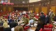 Violence erupted in the Armenian parliament on Wednesday, 25 August