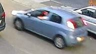 Police believe a light blue Fiat Punto is linked to the incident
