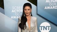 Catherine Zeta-Jones arrives at the 26th annual Screen Actors Guild Awards at the Shrine Auditorium & Expo Hall on Sunday, Jan. 19, 2020, in Los Angeles. (Photo by Jordan Strauss/Invision/AP)