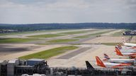 A view of the Northern Runway, after a press conference at the South Terminal of Gatwick Airport, West Sussex, to discuss plans to use the airport's emergency runway for routine flights. Picture date: Wednesday August 25, 2021.