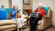 Gogglebox star Mary Cook (left), who appeared on the show with her friend Marina Wingrove, has died aged 92. Pic: Channel 4