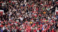 A general view of fans in the stands ahead of the Premier League match at Old Trafford, Manchester. Picture date: Saturday August 14, 2021.