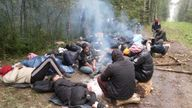 A group of 41 migrants are stuck between Belarus and Latvia