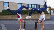 Olympic medal-winning twins Jessica (left) and Jennifer Gadirova celebrate their GCSE results