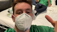 Flanagan posted this picture after the incident on Twitter. Pic: Patrick Flanagan