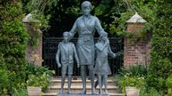 Princess Diana statue in the Sunken Garden at Kensington Palace, London