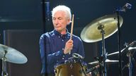 Charlie Watts of the Rolling Stones performs during the concert of their 'No Filter' Europe Tour 2017. Pic: AP