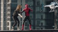 Tom Holland and Zendaya in the trailer for Spider-Man: No Way Home. Pic: Sony Pictures