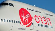 Richard Branson's Virgin Orbit, prior to its takeoff on a key drop test of its high-altitude launch system for satellites from Mojave, California, U.S. July 10, 2019