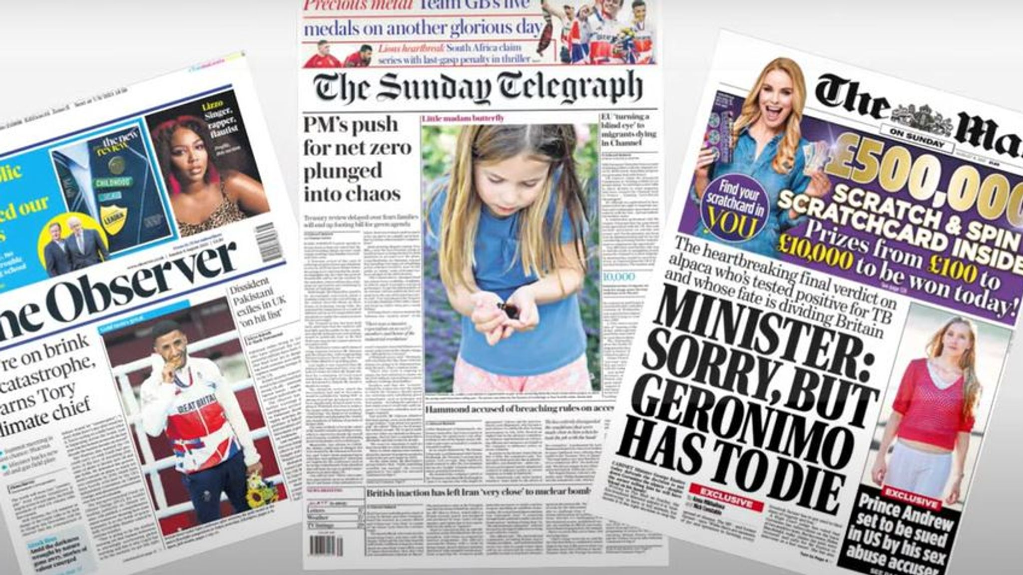 Sunday's national newspaper front pages   UK News   Sky News