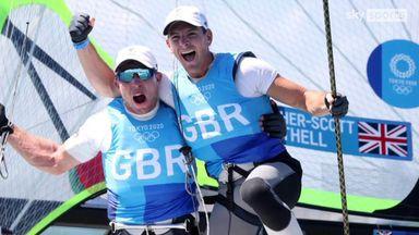 49er sailors celebrate gold for GB