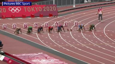 Italy's Jacobs wins 100m gold after Hughes false start