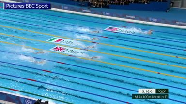 Scott makes history as GB swimmers claim eighth medal