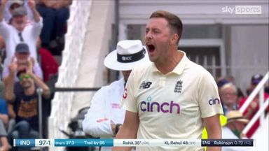 Robinson makes breakthrough with Rohit wicket