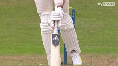 Broad out with plumb lbw